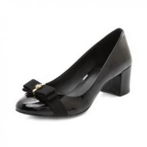 Tory Burch Patent Leather Black Trudy Cap ToePumps